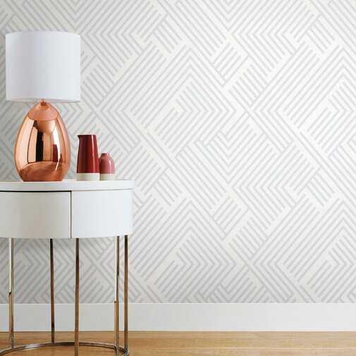 "Leanne Perplexing 16.5' L x 20.5"" W Peel and Stick Wallpaper Roll - Wayfair"