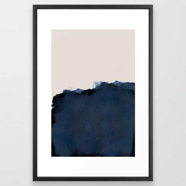 "Abstract, blue, beige, indigo Framed Art Print, 26"" X 38"" - Society6"