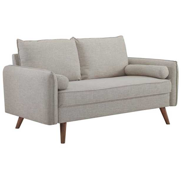 Revive Upholstered Fabric Loveseat in Beige - Modway Furniture