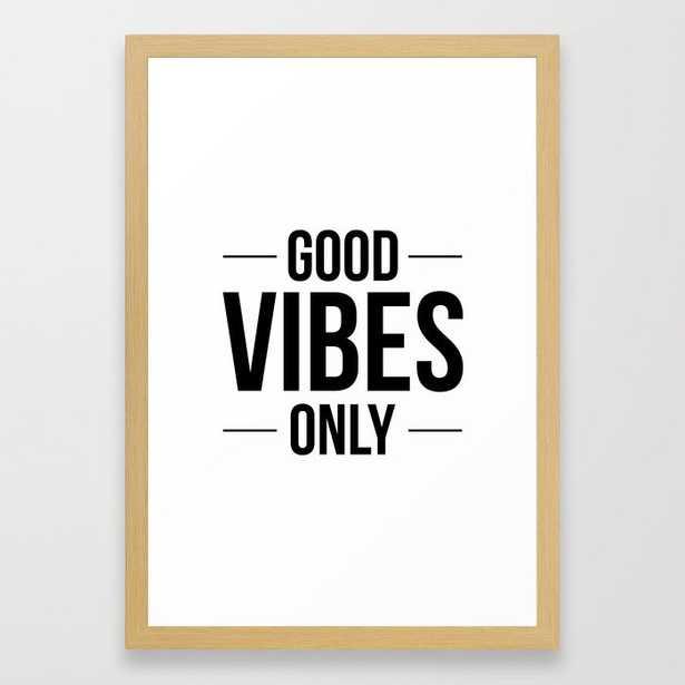 Good Vibes Only Framed Art Print - Society6
