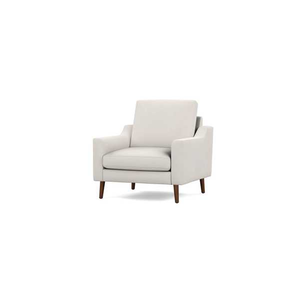 The Slope Nomad Armchair in Ivory, Walnut Legs - Burrow