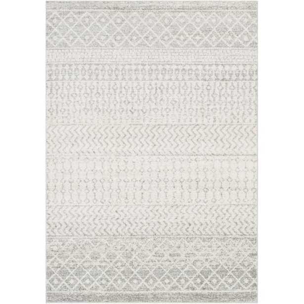 Leonard Geometric Gray/White Area Rug,7'10 x 10'3 - Wayfair