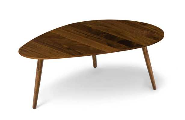 AMOEBA Mid century modern coffee table / solid wood center table - Article