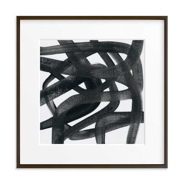 """Mining for Coal - 24"""" x 24"""" - Matte Black Frame - Matted - Minted"""