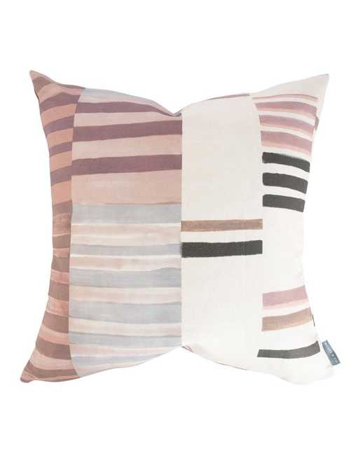 """ZOEY PATCHWORK STRIPE PILLOW COVER WITHOUT INSERT, 12"""" x 24"""" - McGee & Co."""