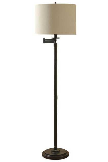 "Sefton 62"" Swing Arm Floor Lamp - Birch Lane"