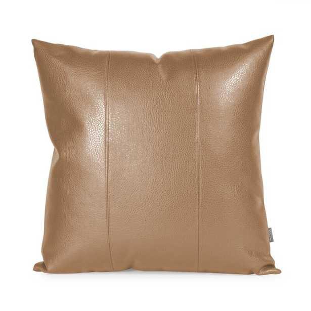Wynkoop Faux leather Throw Pillow - Wayfair