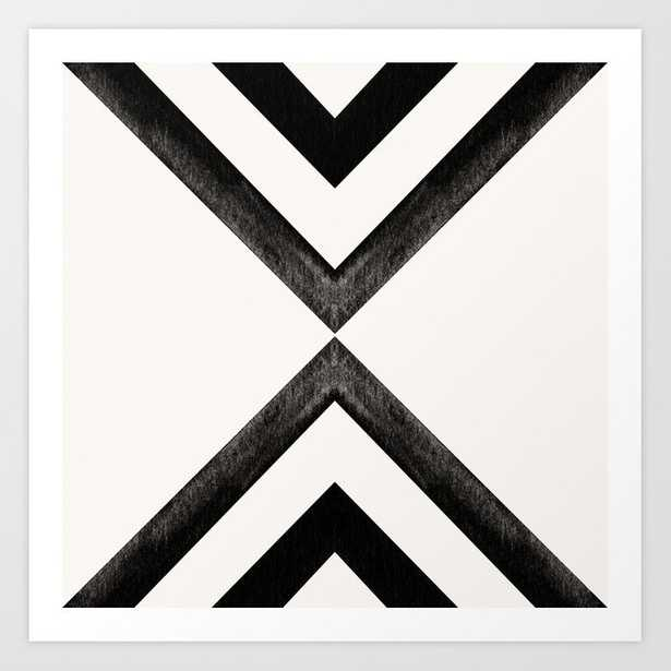 Converging Triangles Black and White print - 8x8 [unframed] - Society6
