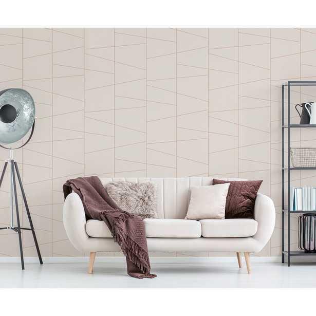 "Delaney Fracture 33' L x 20.5"" W Wallpaper Roll - Wayfair"