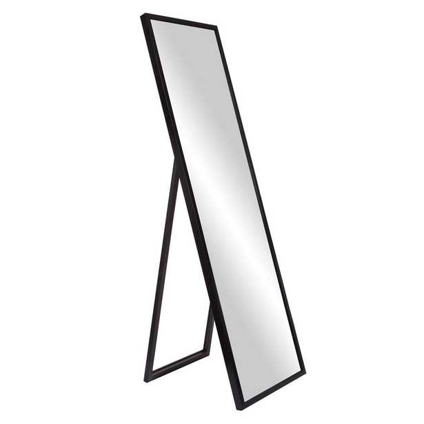 Bainbri Adjustable Rectangular Black Floor Mirror - Home Depot