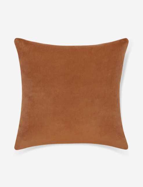Charlotte Velvet Pillow, Burnt Orange - Lulu and Georgia