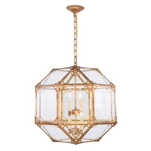 Bromborough 4-Light Unique / Statement Geometric Chandelier - Wayfair