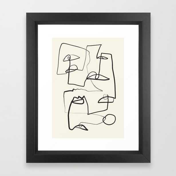 "Abstract line art 12 - vector black - 10"" x 12"" - Society6"