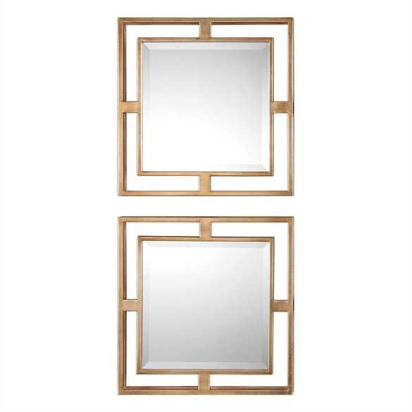 Allick Square Mirrors, S/2 - Hudsonhill Foundry