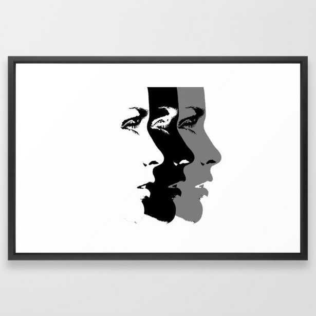 Three Faces Framed Art Print - Society6