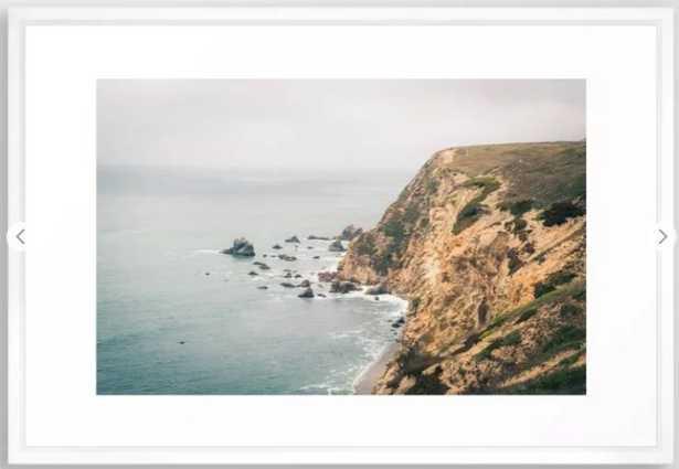 """California Framed Art Print - Vector White Frame - Large (gallery) 26"""" x 38"""" - Society6"""