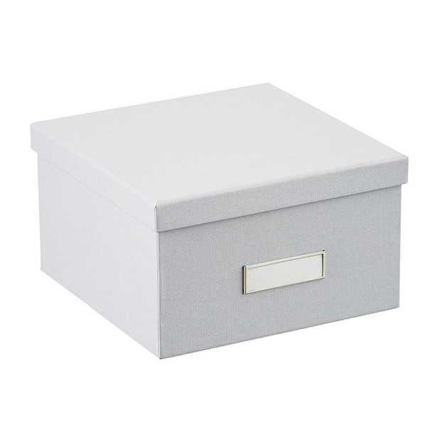 Bigso Light Grey Stockholm Photo Storage Box - containerstore.com