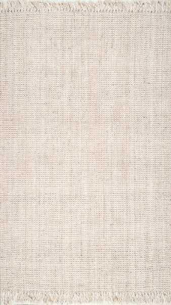 Elana Hand-Woven Bleached Ivory Area Rug - Birch Lane