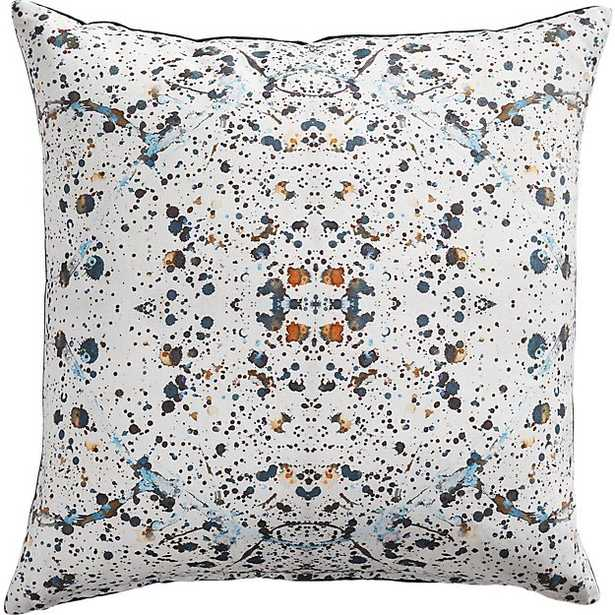 """23"""" SPLATTER PILLOW WITH FEATHER-DOWN INSERT - CB2"""