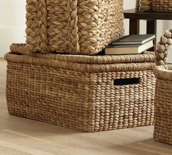Beachcomber Lidded Basket - Pottery Barn