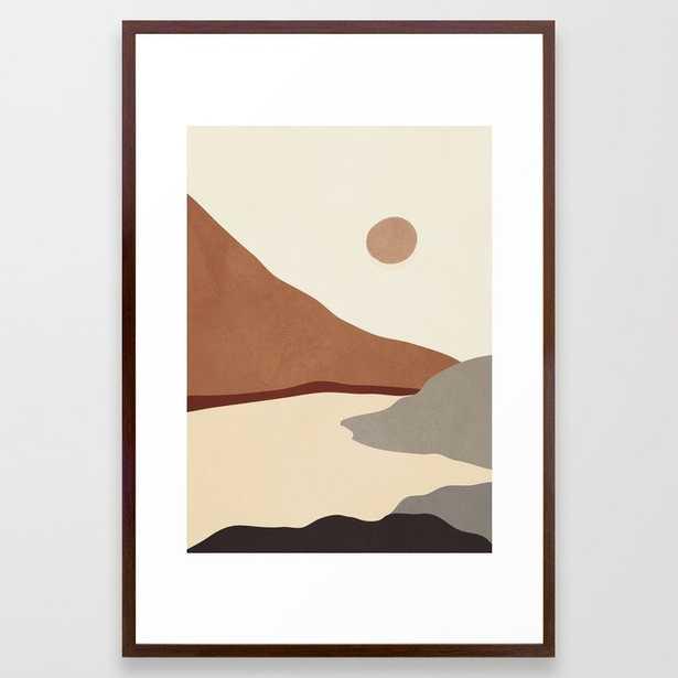 Minimal Art Landscape 11 Framed Art Print - Society6