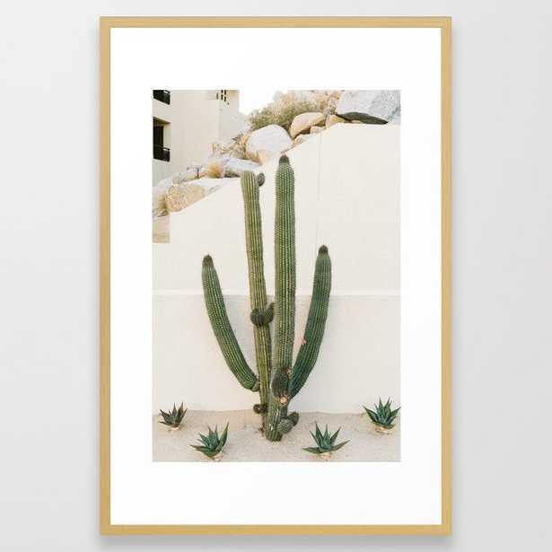 Cabo Cactus X Framed Art Print - Society6
