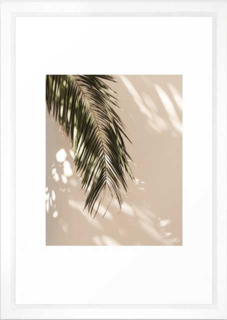 tropical palm leaves vi Framed Art Print - Society6