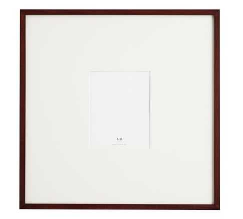 """Wood Gallery Oversized Mat Frame 8"""" x 10"""" (25"""" x 25"""" Without Mat) - Pottery Barn"""