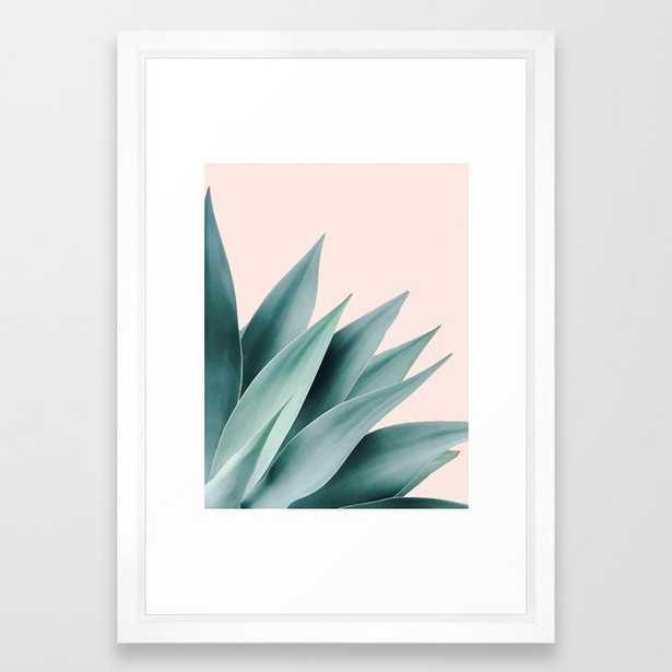 Agave flare II - peach Framed Art Print - Society6