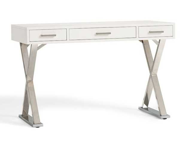 """Ava 47.5"""" Writing Desk with Drawers - Pottery Barn"""