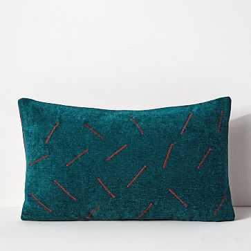Aqua Dash Pillow Cover - West Elm