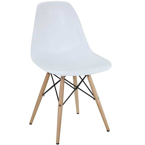 Pyramid Dining Side Chair - White - Modway Furniture