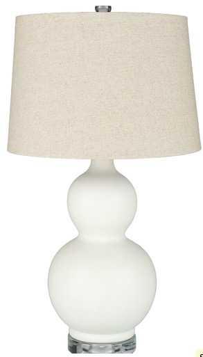 Octavia Table Lamp - White - Lulu and Georgia