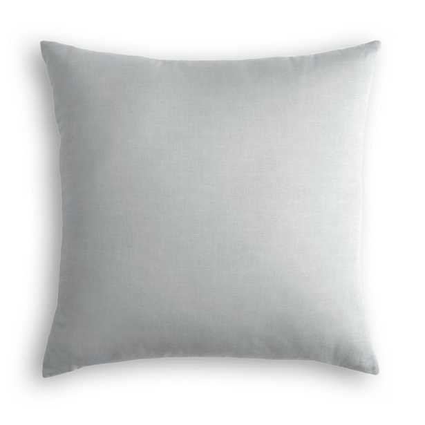 Throw Pillow  Classic Linen - Grey - cover only - Loom Decor