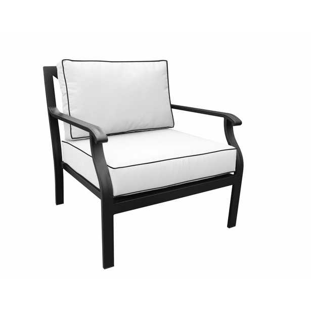 Madison Patio Chair with Cushions; White - Wayfair
