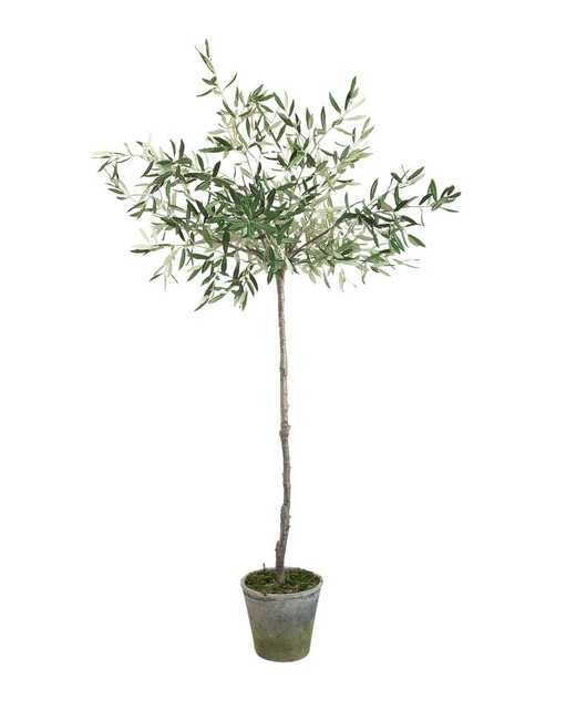 """FAUX POTTED OLIVE TREE, 69"""" - McGee & Co."""