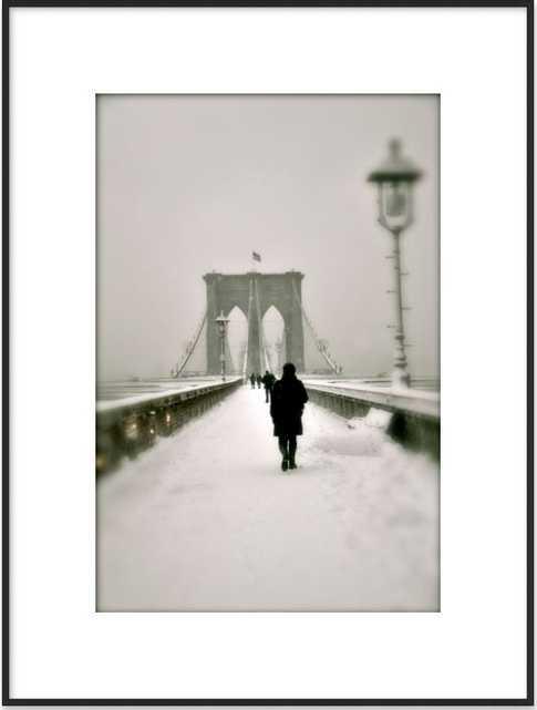 Brooklyn Bridge in Snow - Artfully Walls