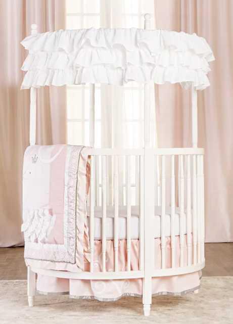 Sophia Posh Circular Crib- White - Wayfair