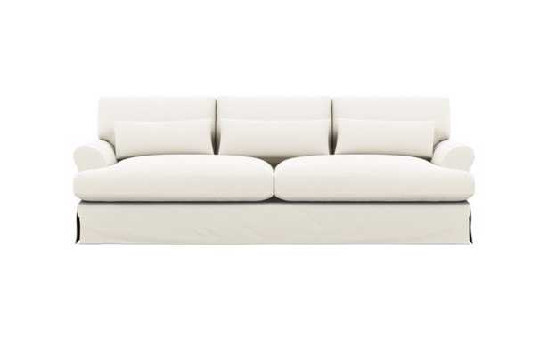 "Maxwell 90"" Slipcovered Sofa in ivory heavy cloth - Interior Define"