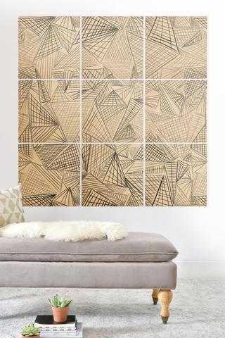 GRIDLOCKED wood wall mural - Wander Print Co.