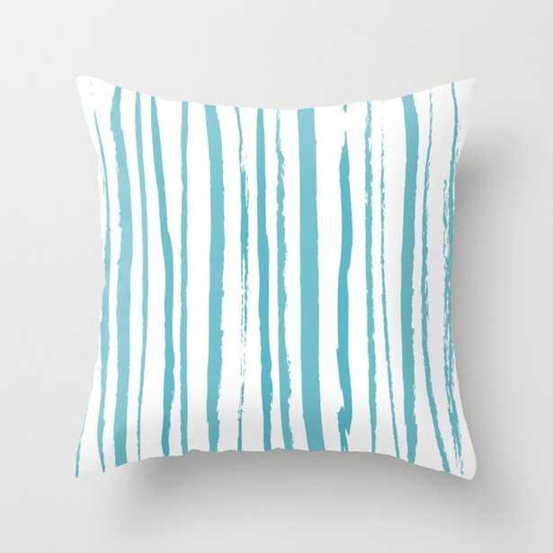 blue streaky pattern Throw Pillow - Society6