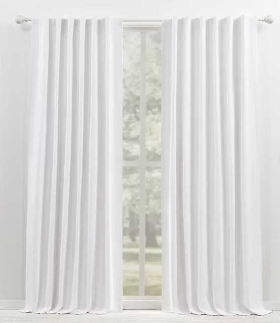 "Waller Solid Blackout Thermal Rod Pocket Single Curtain Panel 96"", White - Wayfair"