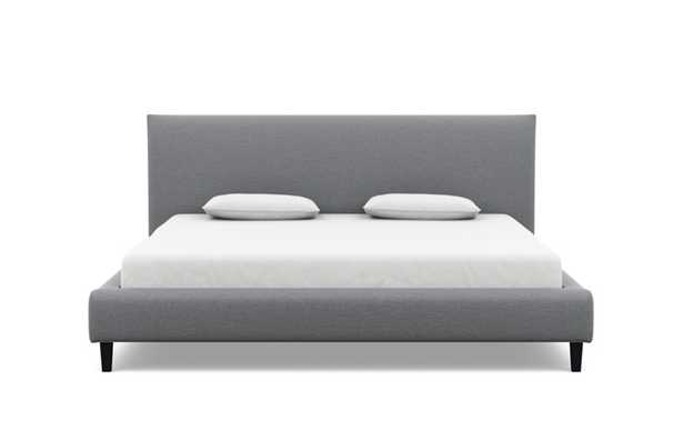 HARPER king bed in dove,Painted Black Tapered Square Wood - Interior Define