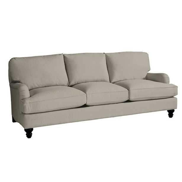 Ballard Designs Eton Upholstered Sofa in Boost Pebble Sunbrella Performance Fabric w/ Black Leg - Ballard Designs