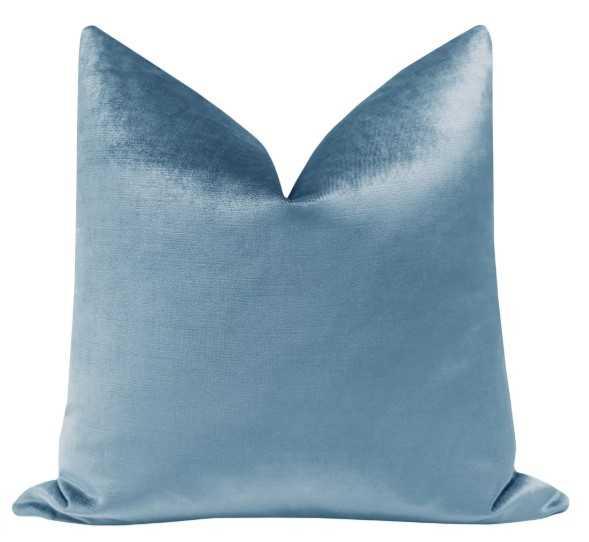 "Faux Silk Velvet // Hydrangea Blue - 18"" X 18"" - Little Design Company"