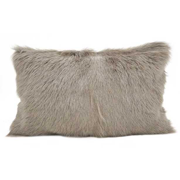Oquinn Goat Fur :umbar Pillow - Wayfair