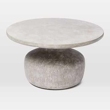 Tambor Concrete Coffee Table - Outdoor - West Elm