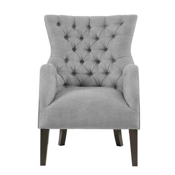 Steelton Button Tufted Wingback Chair - Wayfair