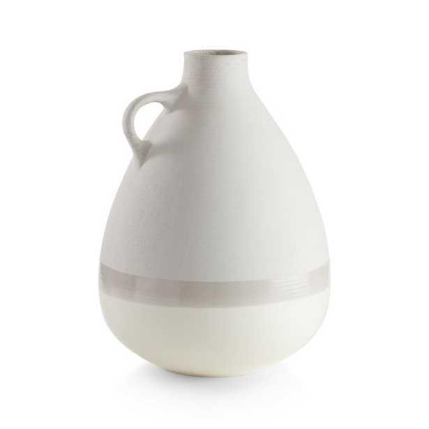 Tavio Cream Bottle Vase with Handle - Crate and Barrel