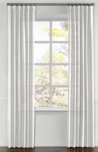 Convertible Drapery  Linen Sheer - White, custom - Loom Decor
